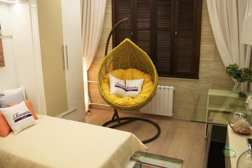 Кресло подвесное флора 36 из искусственного ротанга. интерне.
